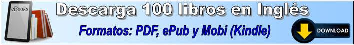 Descargar 100 libros en inglés formatos pdf epub y mobi